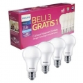 Lampu LED Philips 12Watt E27 6599K 230V ( 3 Free1 )