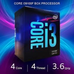 Prosesor Intel Core i3-9100F Cache 6 M, hingga 4,20 GHz